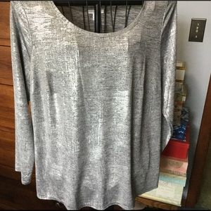 Silver variegated long sleeve top. Like new! Sz 2X